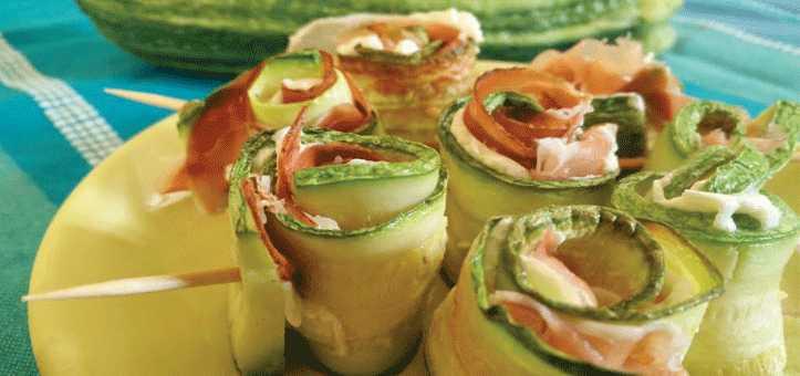 involtine zucchine e speck